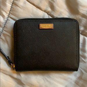 Kate Spade Black Zip Wallet